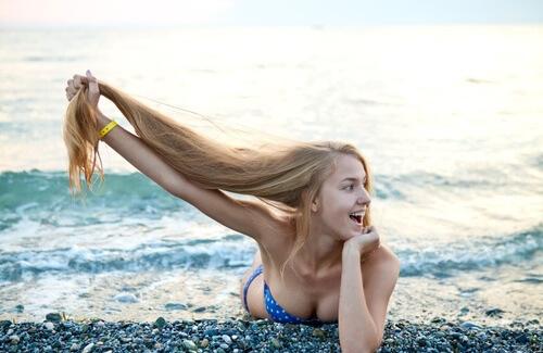 capelli sole mare