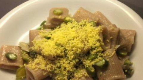 mezzemaniche integrali con asparagi e uova