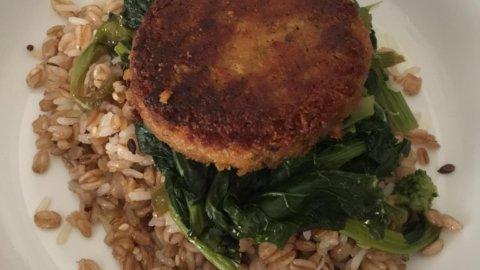 Hamburger veggie con avena e spinaci