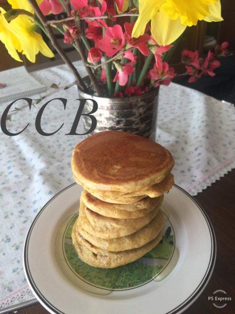 Pancakes integrali con sciroppo d'agave