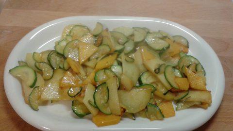Un secondo invitante: patate, zucca e zucchine.