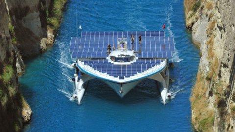 Approda a Venezia PlanetSolar, la barca a energia solare più grande mondo