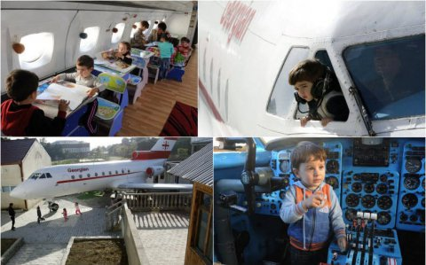Airplane turned into a kindergarten