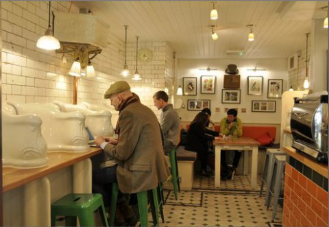UK style: toilet coffee bar