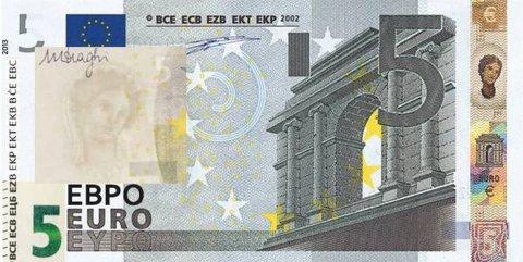 DA OGGI LE NUOVE 5 EURO