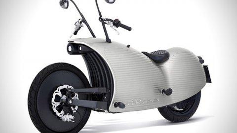 Ecco la motocicletta a emissioni zero che sembra un bruco